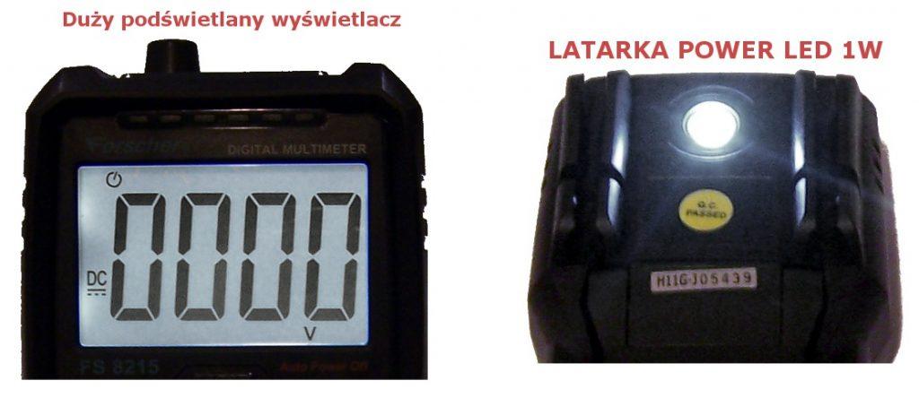 miernik uniwersalny automatyczny forscher fs8217 podświetlany wyświetlacz latarka led
