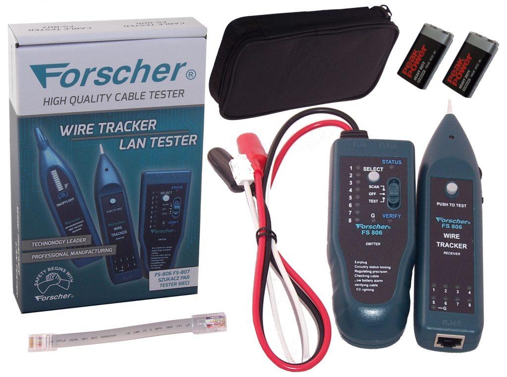 szukacz par przewodów z testerem sieci internetowej lan forscher fs806