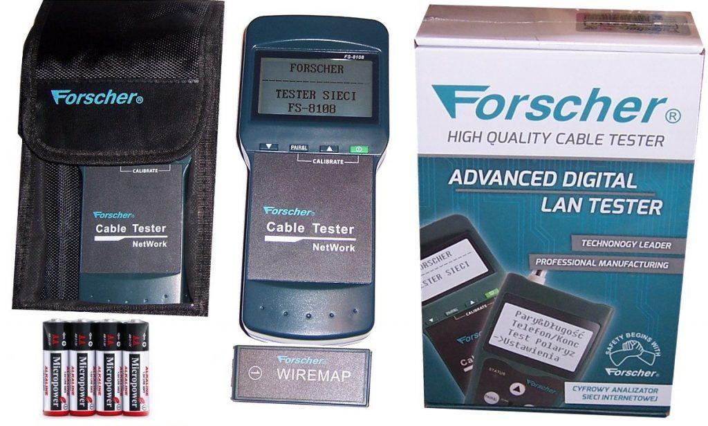 tester sieci lan z pomiarem odległości do uszkodzenia forscher fs8108