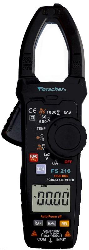 miernik cęgowy ac dc true rms Forsher fs216 - front